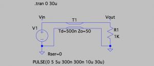 Fig. Circuit: Under damped termination