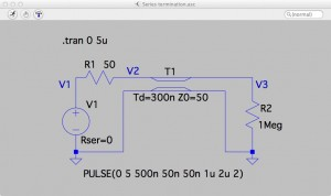 Fig. Circuit: Ideal condition - Series termination